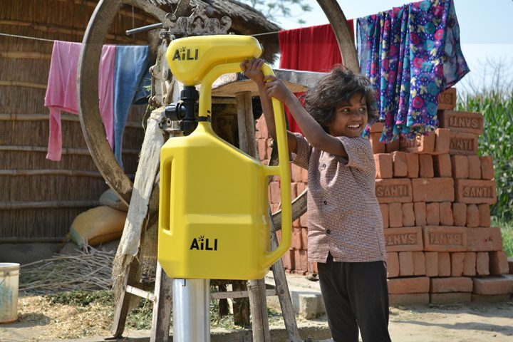 Aili solutions, child with pump